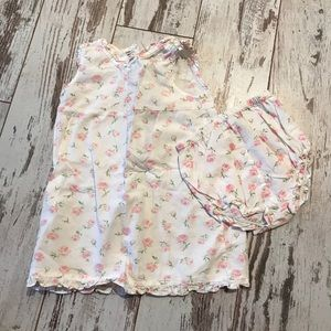 Floral Dress & Matching Bloomers